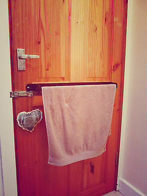 Wrought Iron Towel Rail Bathroom Kitchen Wall Rack (Handmade) 6