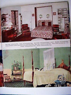 "Vintage 1939 Booklet ""Home Decorator & Color Guide by Rockwell Kent (Artist) * 6"