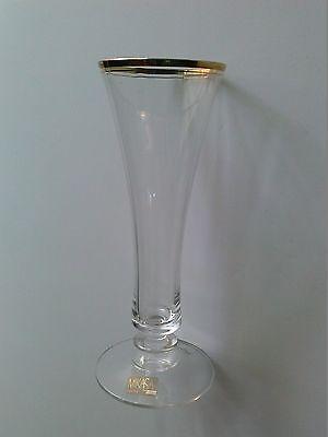 Mikasa Vase Crystal Real Gold Trim Vase 85 Tall Austria 2039