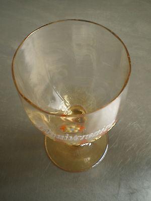 """Vaso Esmalte Antiguo Cumpleaños"""" Deco Souvenir Vintage Glass Arte Mesa 4"""
