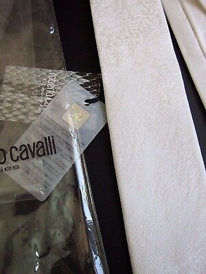 ROBERTO CAVALLI Slim NUOVA NEW  CERIMONIA CEREMONY SETA SILK MADE IN ITALY 5
