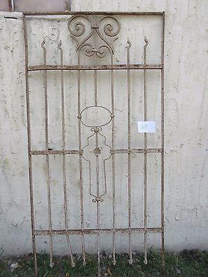 Antique Victorian Iron Gate Window Garden Fence Architectural Salvage #869 5