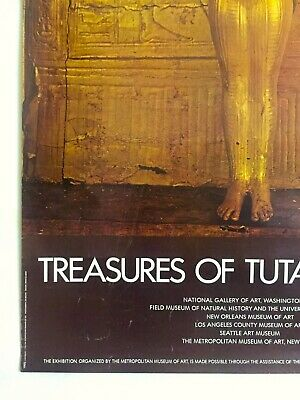 "Rare Vintage 1976 ""Treasures Of Tutankhamun"" Iconic Lrg Museum Exhibition Poster 7"