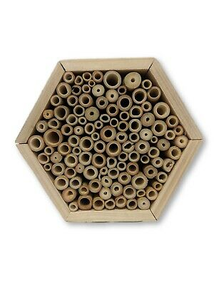 Insect Wooden Hotel Nest Home Bee Keeping Bug Ladybird Garden Pollination Box 10
