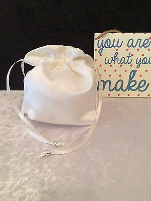 PLAIN DOLLY BAG BRIDAL BRIDESMAID FLOWER GIRL BNIP ASS. COLS. ** free samples** 2