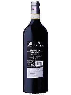 Dezzani Barbera D'Asti Superiore 80 Anni 2011 case of 6 Dry Red Wine 750mL 2