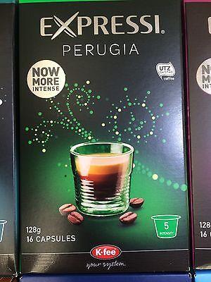 Expressi K-fee Coffee Machine Capsules Pods ALDI 80 caps (5 boxes) u choose 3