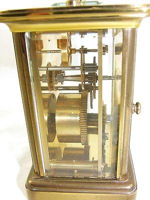Wonderful Swiss Brass Carriage Clock : MATTHEW NORMAN LONDON SWISS MADE 9