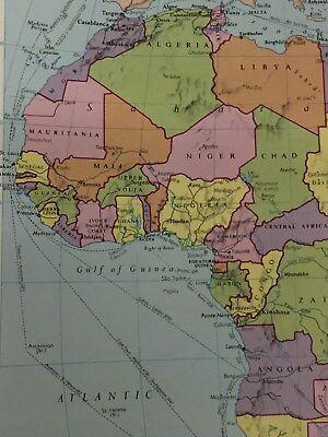"AFRICA Map Original Vintage 1981 Print 8.7"" x 11"" (22.2cm x 27.9cm) Gifts"