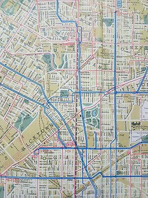 Philadelphia & Vicinity Street Car &. Subway map 1956 PTC Transit VGC Large 7