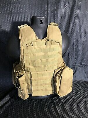 Tactical Vest COYOTE Tan Plate Carrier BODY ARMOR Military Matches Multicam 3