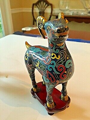 Outstanding Pair of Chinese Cloisonne Goats 10