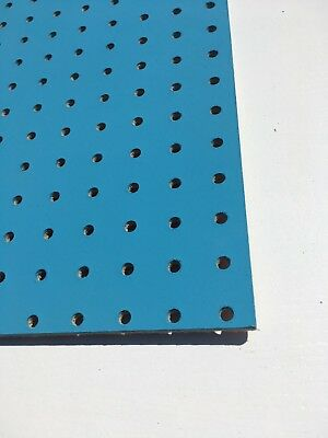BLUE Painted Wooden Pegboard / Display Board 600 x 600 x 6mm 6
