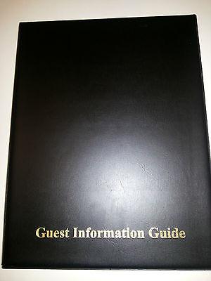 Guest Information Guide Pvc Folder 7 A4 Double Pockets Ref Black/Gold 2