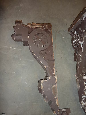 "LARGE pair c1870 GOTHIC victorian GINGERBREAD corbel house brackets 38 x 19 x7"" 8"