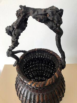 An Exceptional Japanese Bamboo Basket Ikebana from Meiji Period 5