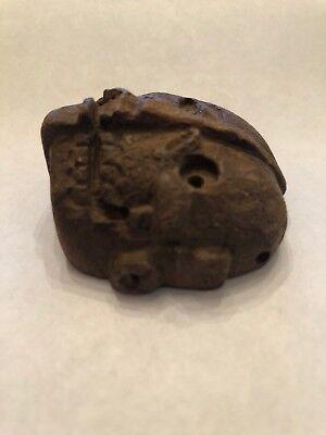 "Pre-Columbian Mixtec ""Life / Death Duality"" Stone Pendant Mask 800 - 1500 AD 3"