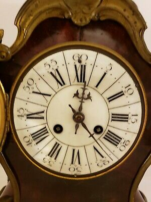 Antique 1855 V. Depose French Boulle Victorian Red Shell Bracket Mantel Clock 5