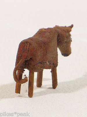 Sehr alte Miniatur Massefigur Kuh Puppenstubenzubehör? 3