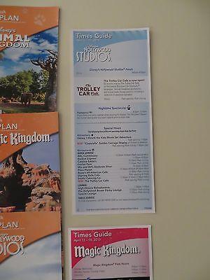 Lot of Walt Disney World Park Maps - Foreign Languages - April 2015 =