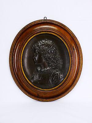 Augusto Felici (1851) Retrato Bronce Italia Roma Pontificia Pontificia Lombardía 2