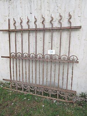 Antique Victorian Iron Gate Window Garden Fence Architectural Salvage Door #708 2