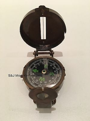 Soldiers Military Thumb Compass Vintage Brass WW2 1940 Navigation World War II 9