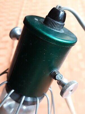 Rotlichtlampe aus Glas von 1940 Wärmelampe Strahler / gebraucht und funktioniert 4