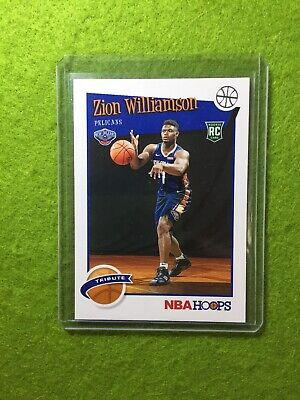 ZION WILLIAMSON ROOKIE CARD JERSEY #1 PELICANS RC 2019-20 Panini HOOPS rookie rc 9