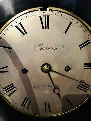 Twin Fusee London English Barwise antique bracket clock Twin Fusee Scarce 9