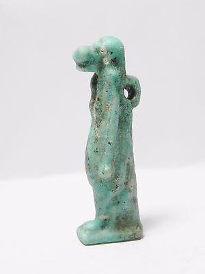 Zurqieh -Q202- Ancient Egypt , Large & Beautiful Faience Tawaret. 1075 - 600 B.c 3