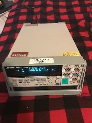 ADCMT AD74461A Commercial Digital Multimeter Nice Unit! 2