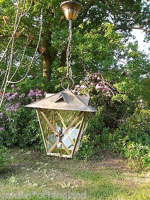 A very pretty unusual Vintage French brass lantern (T157) 12