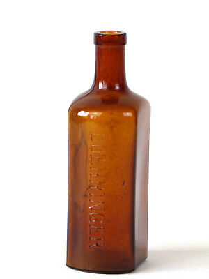 Alte Braunglas Flasche B&S Boehringer Arsenferratose