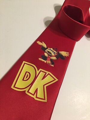 Super Cool Donkey Kong Necktie New Red DK
