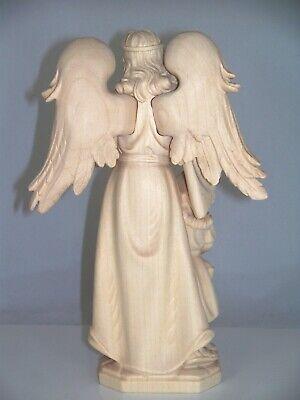 8 cm hoch Holz geschnitzt natur Taufe M Engel Schutzengel mit Mädchen ca