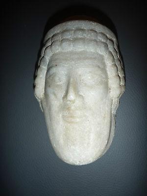 A Roman / Greek   Marble Head Of Hermes ? Propylaios  ??  Circa 1St Century B.c. 6
