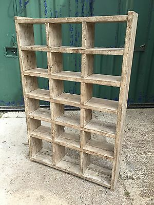 Industrial Up-Cycled Pigeon Hole Shoe Rack / Shelveing Unit. 7