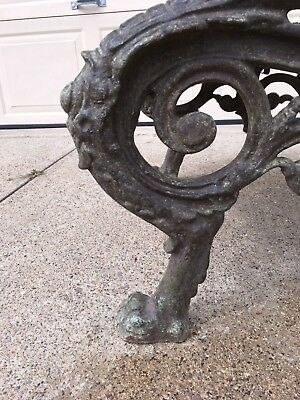 Wondrous Antique Vintage Ornate Griffin Cast Iron Patio Park Garden Evergreenethics Interior Chair Design Evergreenethicsorg