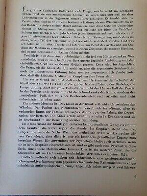 Buch: Klinische Vorstellungen - Viktor von Weizsäcker - 1947 Leib und Seele usw 5