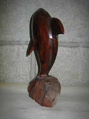 Hand Carved Wood Dolphin 7H x 2W Made in Mexico 5