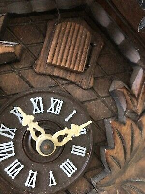 Vintage REGULA Hand Made Wooden Black Forest Cuckoo Clock Made in Germany 12