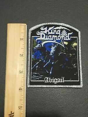 King Diamond Abigail band Metallic Sliver Patch, Iron on Clothing Woven Badge 3