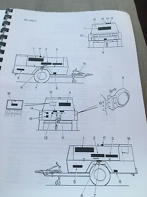 Compair Holman 400/170 Cat 3116T Engine Illustrated  Parts Manual Incvat