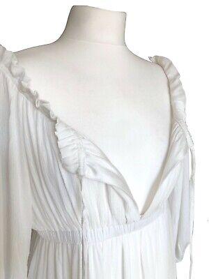 Off White Long Boho Peasant Jane Austen Regency Gypsy Maxi Wedding Pirate Dress 4
