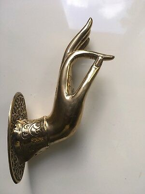 exquisite lBuddha Pull handle Brass hook polished door old style HAND 20cmhook B 8