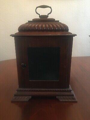 Mahogany bracket clock, fine quality Englishdouble fusée movement 8
