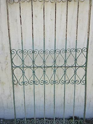 Antique Victorian Iron Gate Window Garden Fence Architectural Salvage Door #380 4
