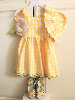 5 tlg. Sommer Set von Gymboree Mädchen Schuhe Gr. 27 Kleid Gr. 104 110 116 TOP 2