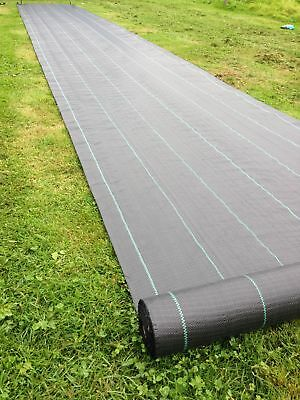 3m x 10m 100gsm  lined Ground Cover Weed Control Fabric Driveway membrane 2